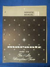MARANTZ 110 SERVICE MANUAL FACTORY ORIGINAL ISSUE