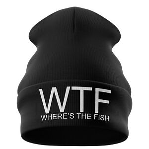 06494307dba Fishing Gifts for men - WTF Wheres the Fish Funny Beanie Hat Angling ...