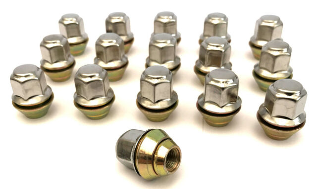 "17mm Hex Rover Mini Wheel Nuts Silver Set of 16 x 3//8/"" UNF"