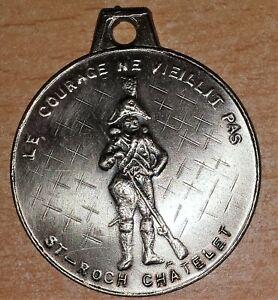BELGIQUE-Medaille-de-la-Marche-de-Saint-Roch-a-Chatelet-Cie-des-Veterans-10-ans
