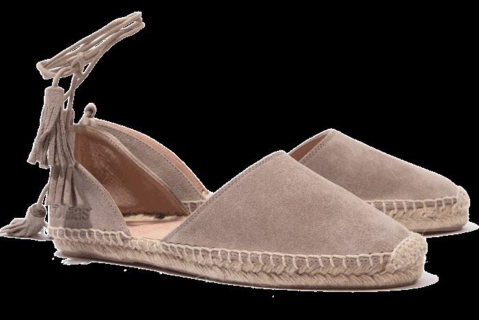 Solillas - Ankle Tie Sandale - Taupe UK 4 EU 37 JS37 36