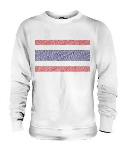 THAILAND SCRIBBLE FLAG UNISEX SWEATER TOP GIFT MUEANG THAI PRATHET