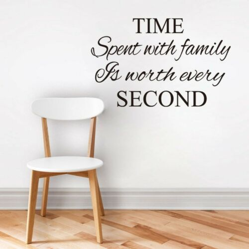 TIME SPENT WITH FAMILY Wall Decor Sticker Design Art Decal Quote Words New