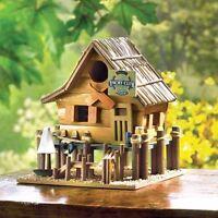 Fishing Lake Sailboat Cabin Yacht Club Boat Beach Garden Fairy Wooden Bird House