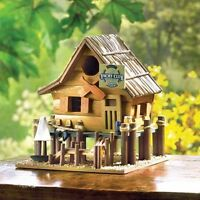 Fishing Lake Sailboat Cabin Yacht Club Boat Beach Garden Fairy Wooden Bird House