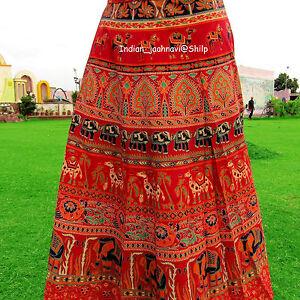 Rapron-100-Cotton-Indian-Women-Long-Skirt-Wrap-Around-Handmade-Mandala-Print