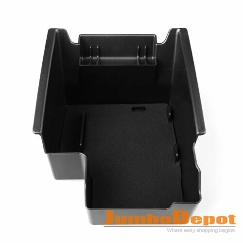 Black ABS Armrest Center Console Storage Box Tray Fit For Ford Escape Kuga 13-16