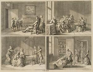 Chodowiecki (1726-1801). istinti e inclinazioni della gente; pressione grafico