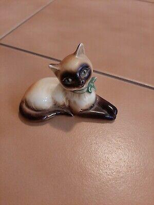 Dekofigur Figur Katze mit Krone Kater Katzenkönigin liegend Shabby   25 cm