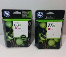 Lot of 2 HP 88XL Magenta High Yield Genuine Ink Cartridge (C9392AN)
