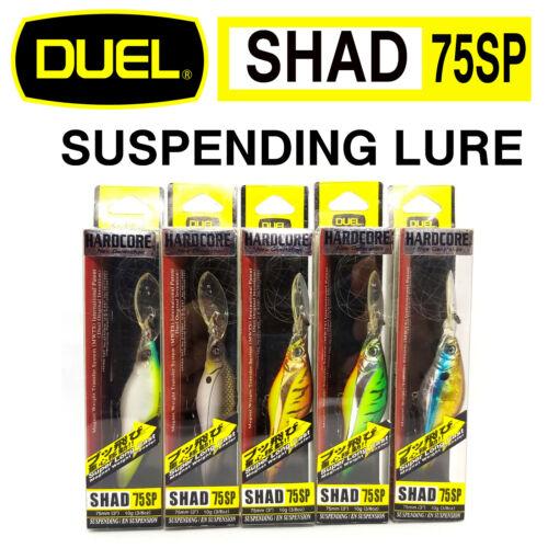 DUEL HARDCORE SHAD 75 SP JAPAN SUSPENDING SUPER LONG CAST BAIT LURE MORE COLORS
