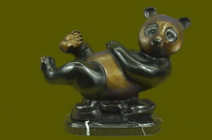 Limitierte Edition Große Panda Bronze Sculpture Home Office Hütte Deko Dekor Nourishing The Kidneys Relieving Rheumatism Antiquitäten & Kunst
