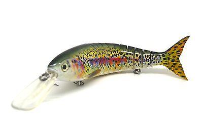 "11.5"" multi jointed Fishing Lure Bait Swimbait Life-Like Deepwater Muskie Pike"