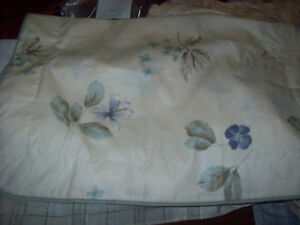 Echo's Blue Floral & Beige Sham: Standard or King-poly/cott<wbr/>on easy care blend