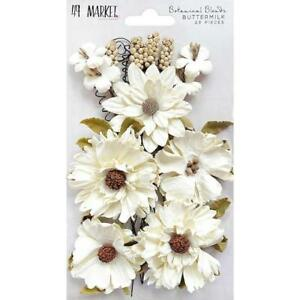 49 And Market Botanical Blends Mulberry Paper Flowers 23pcs Ebay