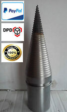 Log Wood Screw Type Splitter Cone Cleaver Ø80mm Wood splitter cone the axle 28mm