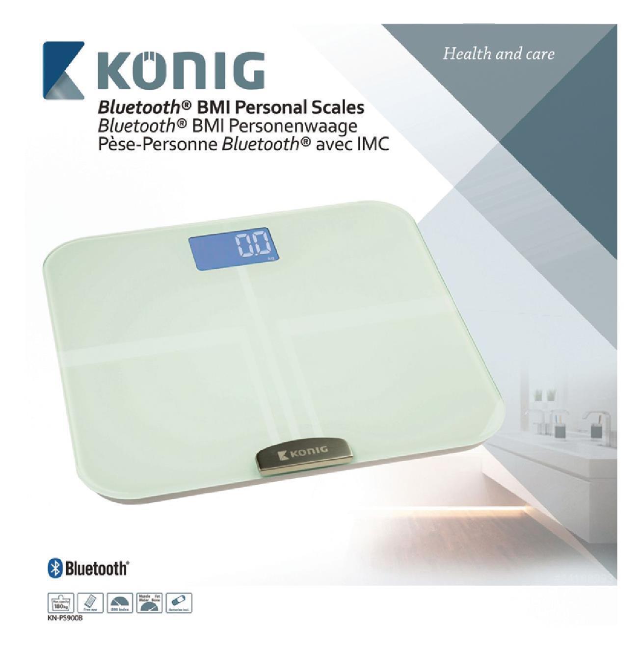 Konig Elegant Blautooth 4.0 Gesundheit Waage Bmi Bmr Gewicht Gewicht Gewicht Fett Wasser 8c0240