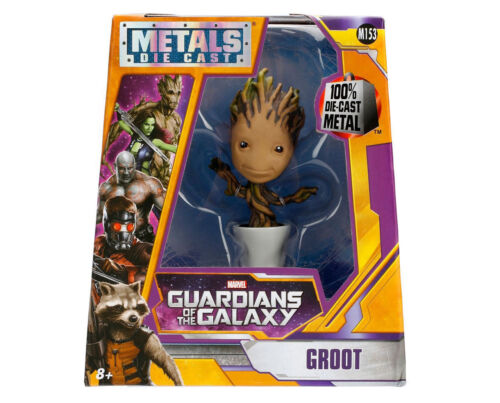 "MARVEL GUARDIANS OF THE GALAXY POTTED GROOT 4/"" METALS DIE CAST FIGURE JADA M153"