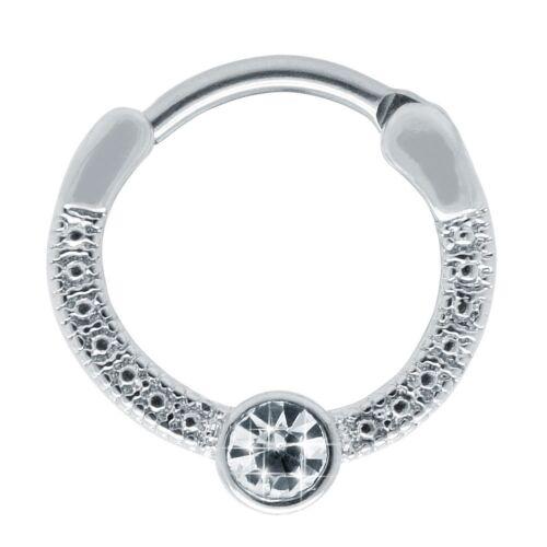 Piercing tabique piercing nariz clic cierre brustwarzenpiercing plata oro pedrería