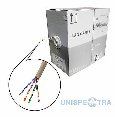 BRAND NEW ROLL OF 305m Ethernet Cable Reel Network LAN UTP CAT5e CCA UK