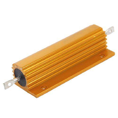 1Pcs Gold Tone WireWound 100W 5/% 0.5 Ohm  Power Aluminum Case Resistor