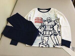 New Carter/'s Boys Robot Pajama set Snug Fit Short Sleeve Shorts Red Navy Blue