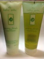 The Healing Garden Cucumber Theraphy Set Shower Gel & Body Lotion 7.0 Oz Each.