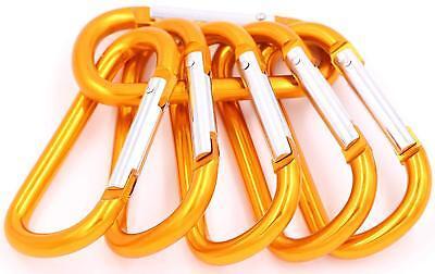 "New 3/"" Aluminum Carabiner D-Ring Key Chain Clip Hook Color GREEN US SHIPPER"