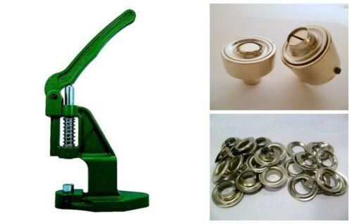 Ösenpresse + 100 Ösen 12mm silber rostfrei + Werkzeug DIN 7332 f. Banner, Planen