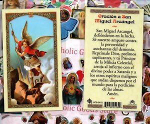 Oracion A San Miguel Arcangel Spanish Plastic Holy - Www