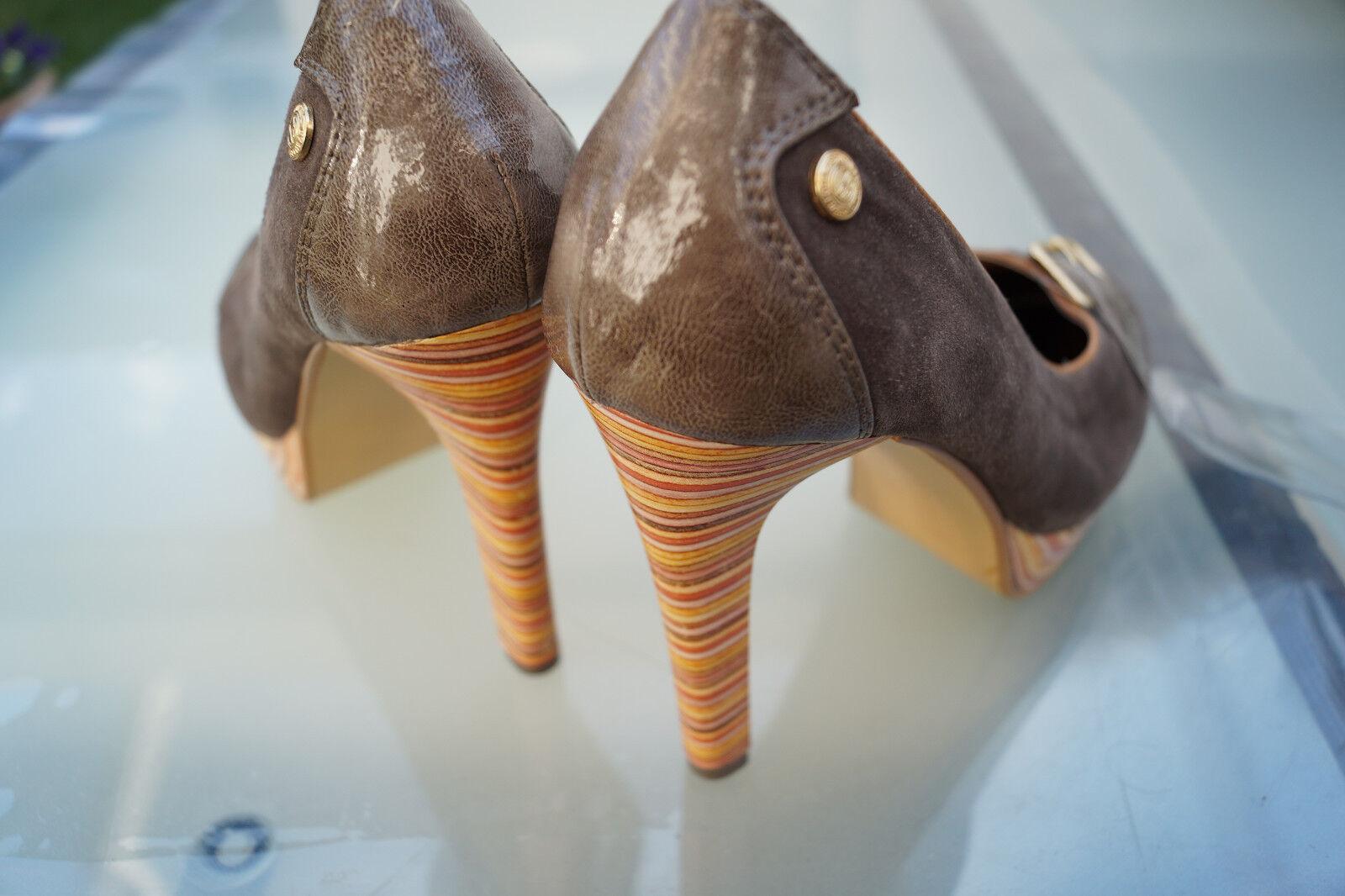 Bruno Banani Leder Damen Schuhe Pumps High Heels Abendschuhe Leder Banani Gr.37 braun NEU 01a3f9
