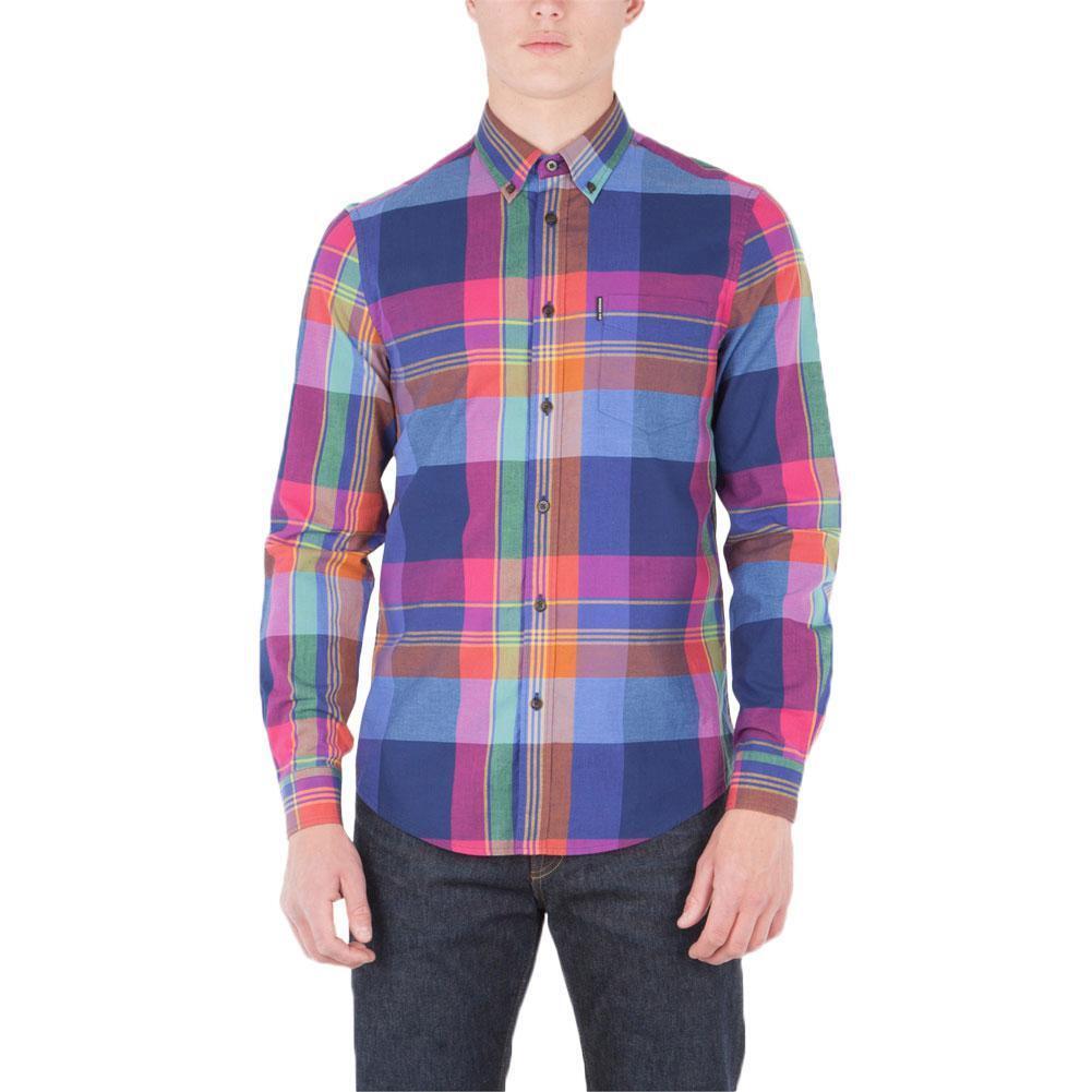 Ben Sherman - Summer Madras  Herren Button-Up Long Sleeve Shirt