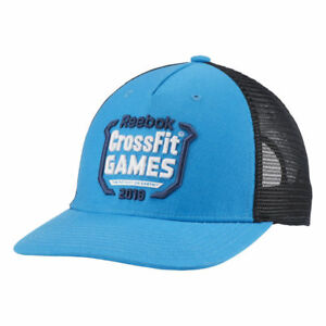 e8babf2b79 Details about REEBOK CROSSFIT GAMES 2018 FRASER TRUCKER HAT CAP BLUE &  BLACK NWT