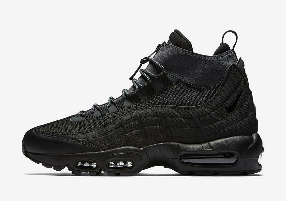 NIKE 806809 AIR MAX 95 SNEAKERBOOT 806809 NIKE 001 TRIPLE ALL BLACK/ANTHRACITE GREY/WHITE 23fca8