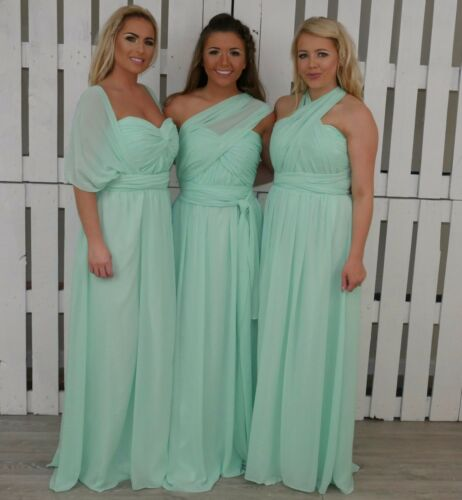 Multiway Bridesmaid Dresses Prom Formal Party Long Ballgown Wedding Uk