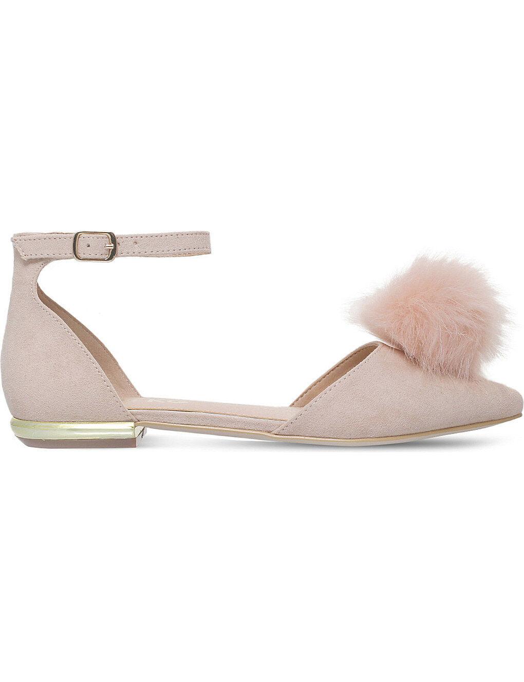 Miss KG goldie Pom Pom Flat shoes Nude LN086 NN 05