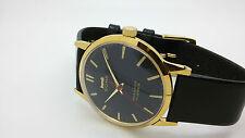 vintage hmt sona gold plated hand winding men's super slim india watch run -zx00