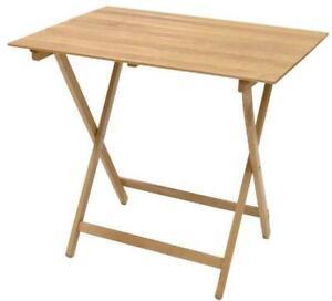 Tavolo Tavolino Pieghevole Richiudibile In Legno Naturale 80x60 Cm Campeggio Ebay
