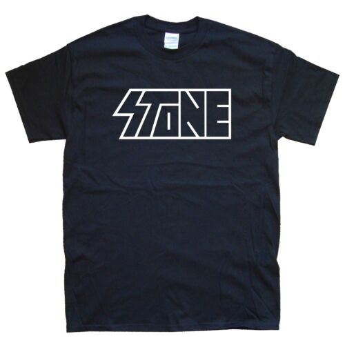 White STONE new T-SHIRT sizes S M L XL XXL colours Black