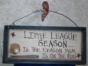 BASEBALL-LITTLE-LEAGUE-WOOD-SIGN-THE-REASON-MOM-IS-ON-THE-RUN-WALL-DECOR-12x5-5-034