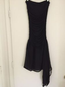 Angelo-Tarlazzi-Made-In-France-For-Bergdorf-Goodman-Ruched-Dress-Size-XS-S