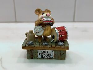 1993 Wee Forest Folk M-196 One Mouse Band RETIRED WFF AP