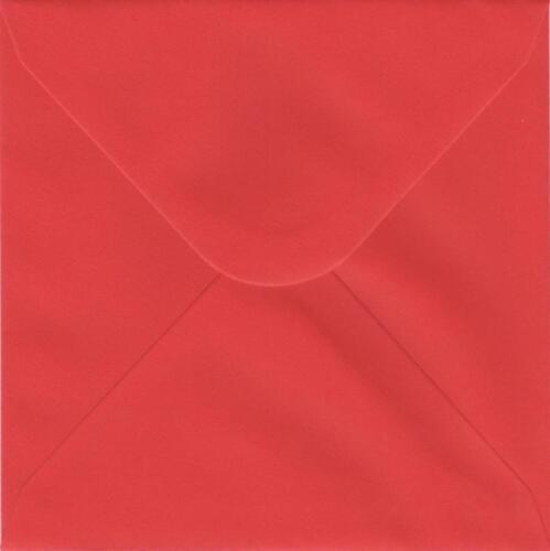 "50   155mm x 155mm  RED ENVELOPES  120gsm   6.1/""x 6.1/"""