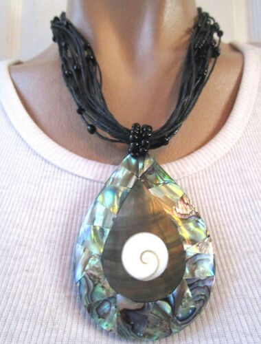SAJEN Indonesia Genuine Abalone Hand Crafted Necklace