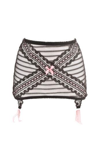 Sheer 5055780037659 S Agent Women's Provocateur Unique Suspender Bcf88 Lace Semi Black Rrp£150 wwIPqO14U