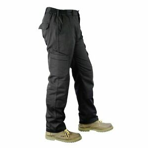 Mens-Cargo-Combat-Work-Trousers-Size-28-to-48-Black-Knee-Pads-Short-Regular-Long