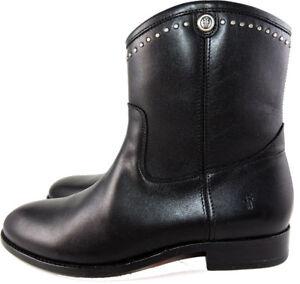 399dafa46 Frye MELISSA STUD SHORT Black Boots Women's Riding Moto Ankle ...