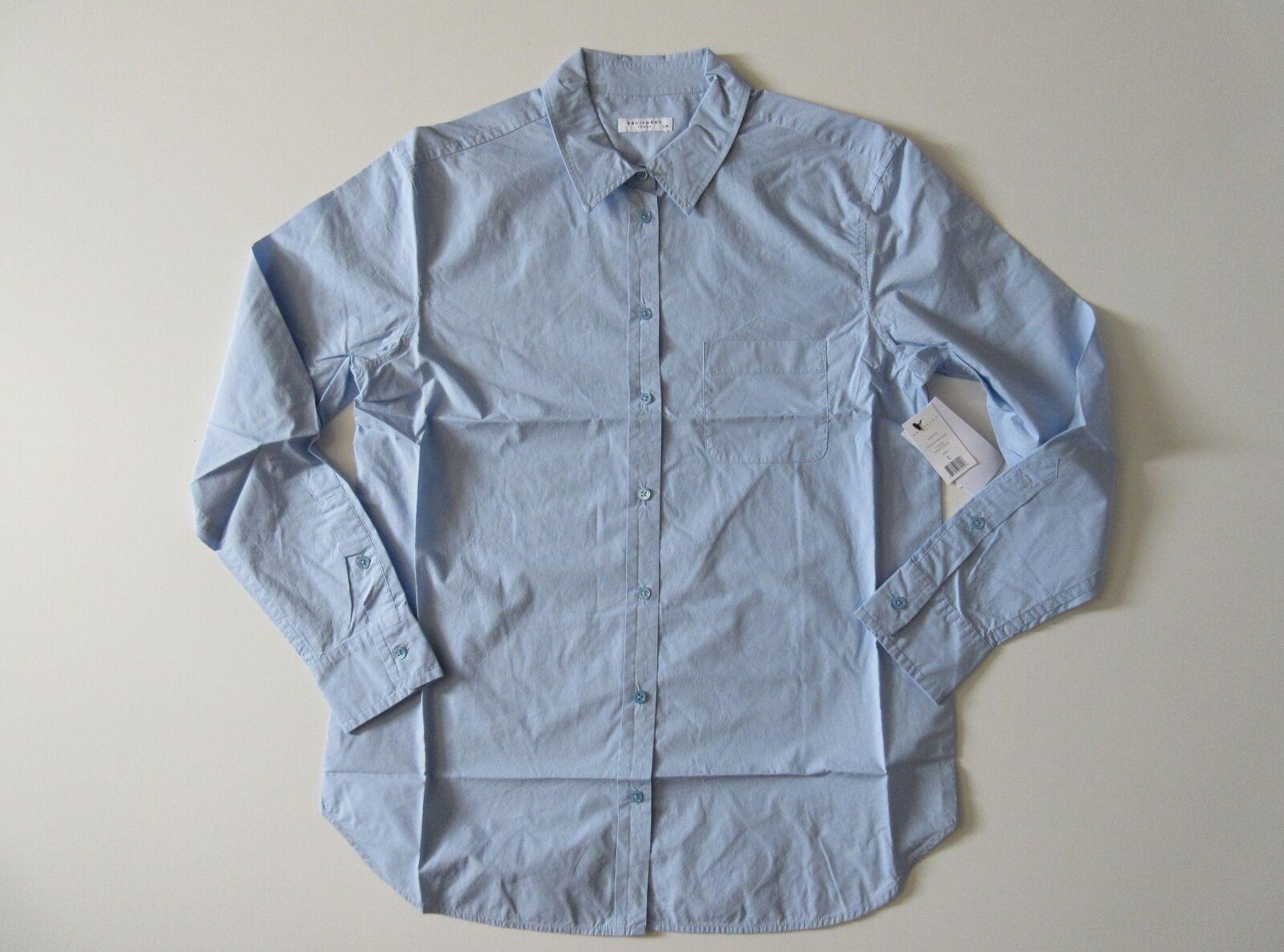 NWT Equipment Kenton in French Blau L S Cotton Button Down Shirt L