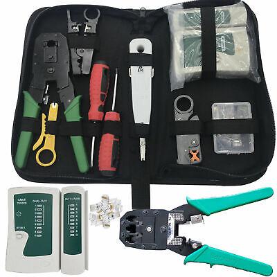 Affidabile Nuovo Rj45 Cavo Di Rete Ethernet Tester Crimpare Crimper Stripper Tool Kit Set-