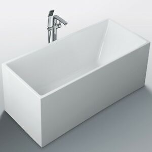 1300 x 700 x 580 mm square multi fit freestanding bath tub for Small baths 1100